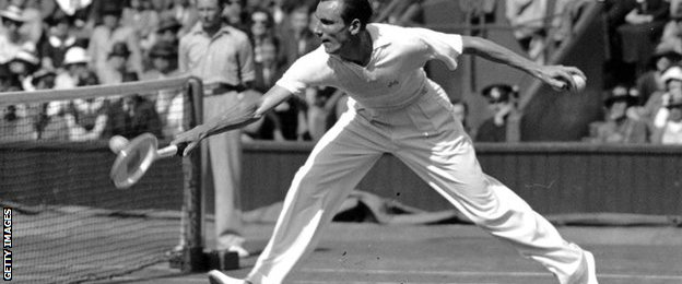 Fred Perry at Wimbledon, 1936
