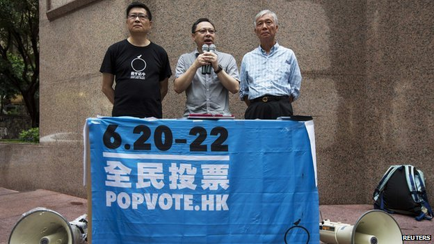 Occupy Central co-organisers announce the number of votes twenty-six hours after their unofficial referendum began in Hong Kong on 21 June, 2014