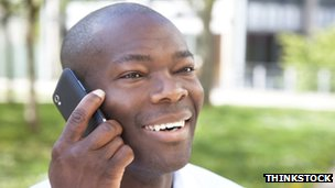 Generic image of a man on the phone
