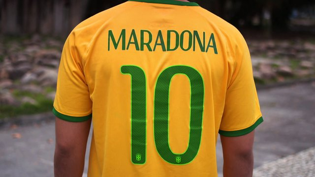 BBC Sport meets the Brazilians named after famous World Cup stars such as Diego Maradona, Jurgen Klinsmann and Gary Lineker
