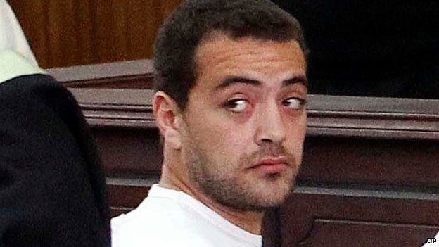 Baher Mohamed in court (31 April 2014)