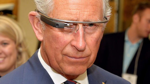Prince Charles tries on Google Glass