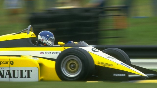 Classic F1 - Derek Warwick drives to second place in the 1984 British Grand Prix