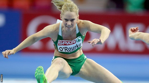 Derval O'Rourke in action at the 2013 European Athletics Championships