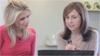 Lara Lewington shows Anita how to download a file