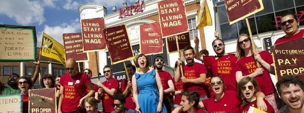Ritzy cinema staff on strike