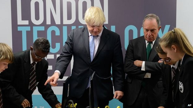Boris Johnson and Michael Bloomberg in London