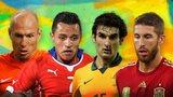 Arjen Robben, Alexis Sanchez, Mile Jedinak, Sergio Ramos