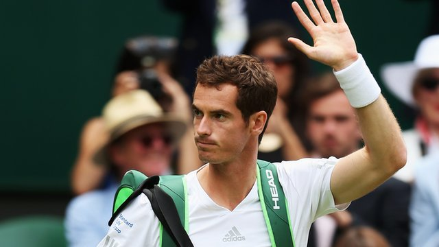 Andy Murray walks out on Centre Court as defending Wimbledon Champion, the first British man to return to the All England Club as champion since Fred Perry in 1936
