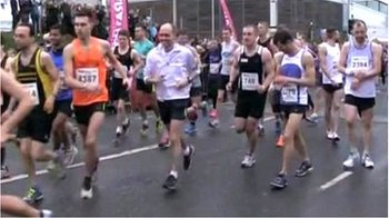 Runners in Sheffield Half Marathon