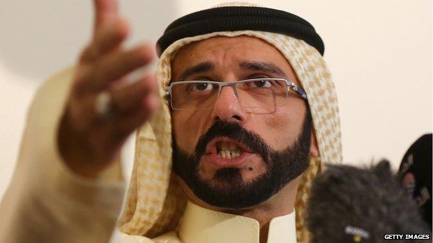 Iraqi rebel leader Ali Hatem al-Suleiman Dulaimi