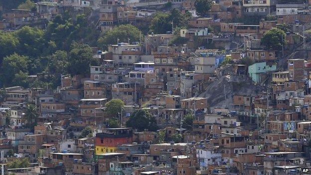 Complexo do Alemao shanty town in Rio de Janeiro on 22 May, 2014