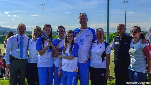 Newbattle Community High School baton-bearers