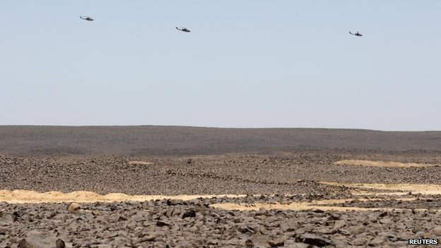 Jordanian helicopters near the border, 23 June
