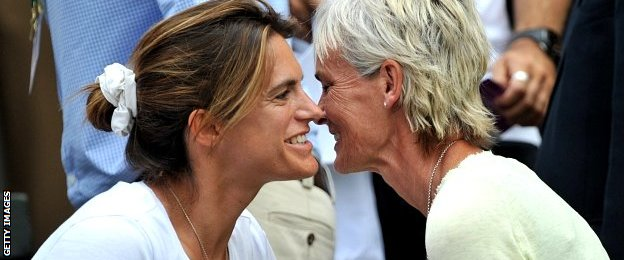Amelie Mauresmo and Judy Murray
