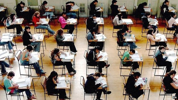 Pupils sitting exams