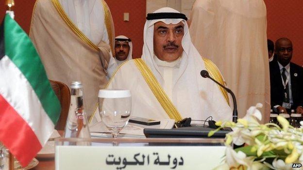 Kuwait's Foreign Minister Sheikh Sabah al-Khalid al-Sabah