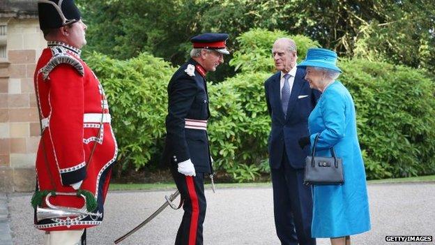 Royal couple at Hillsborough Castle
