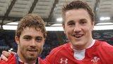 Leigh Halfpenny and Jonathan Davies