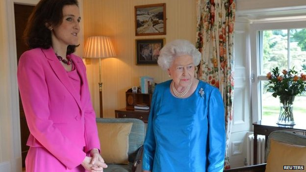 Theresa Villiers had an audience with the Queen at Hillsborough Castle