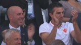 Robin van Persie applauds