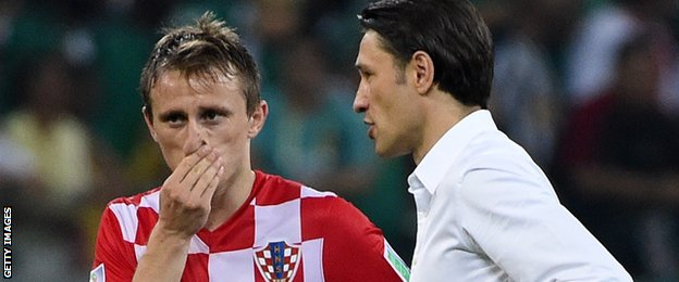 Croatia playmaker Luka Modric (left) and manager Niko Kovac