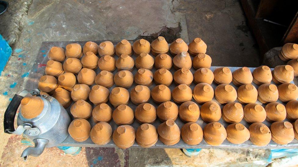 Kulhars and pots