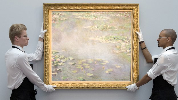 1906 Claude Monet water lilies painting, Nympheas