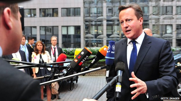 David Cameron in Brussels May 2014