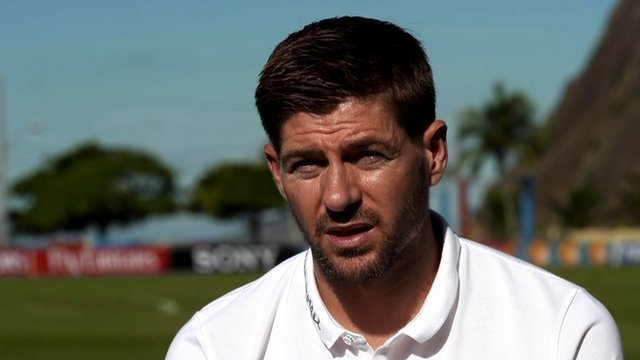 England captain Steven Gerrard talks about the future of English football
