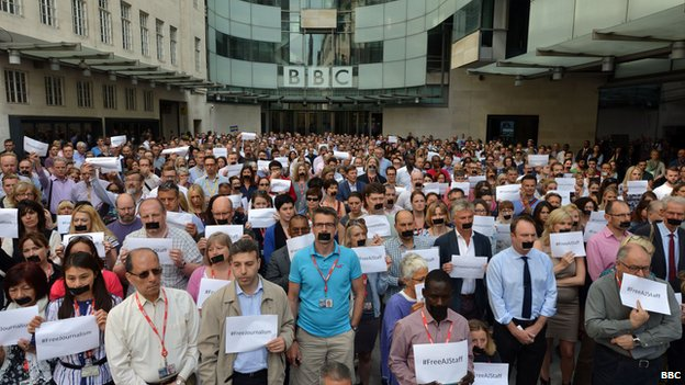 Protest at BBC's New Broadcasting House