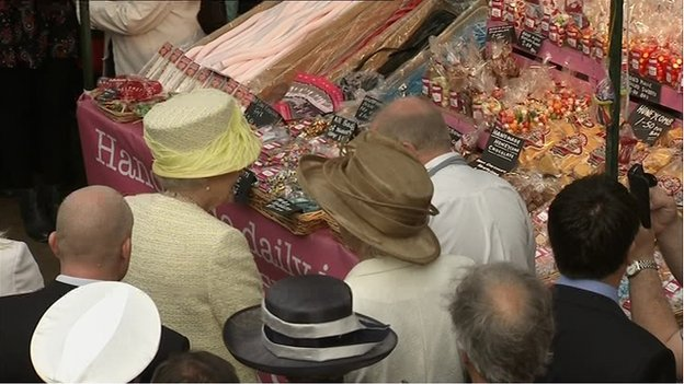 The Queen met some of the traders during her visit to St George's Market