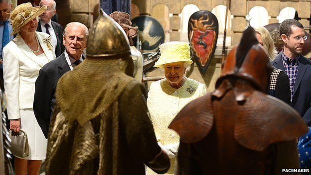 The Royal couple got a chance to see some of the costumes from Game of Thrones at close quarters