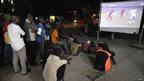 Ivorians watch Ghana's 2-2 draw with Germany in Abidjan