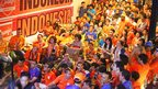 Fans in Jakarta, Indonesia, supporting the Netherlands
