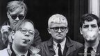 Andy Warhol, Henry Geldzahler, David Hockney and Jeff Goodman, 1963