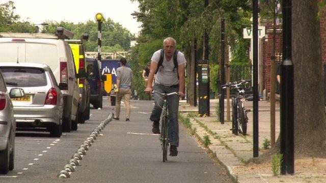Cyclist in Camden