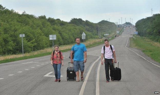 Three residents from eastern Ukraine in Russia