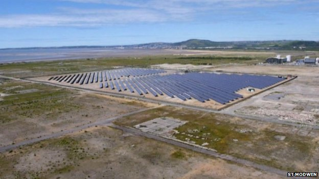 Solar park at Baglan