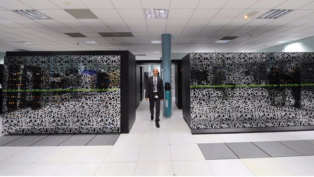 A French supercomputer is used to predict the weather
