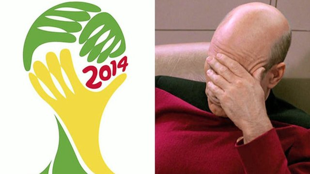 World Cup logo and Captain Picard facepalm