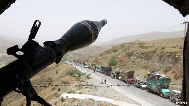 An army observation post at Bannu, 22 June