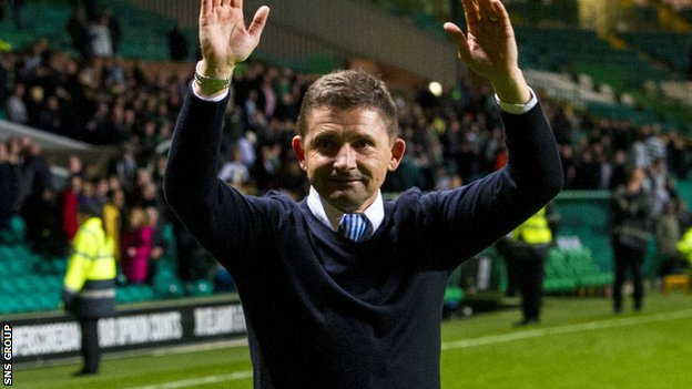 Allan Moore was in charge when Morton knocked Celtic out of last season's League Cup
