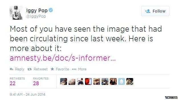Iggy Pop's Twitter comment