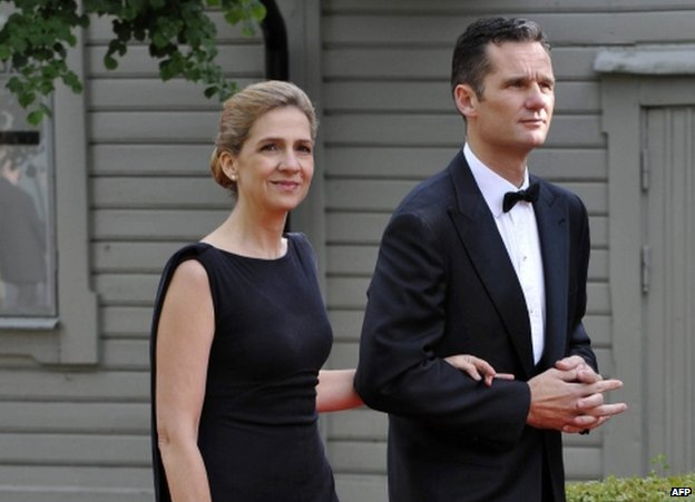 Princess Cristina and Inaki Urdangarin (file pic 2010)
