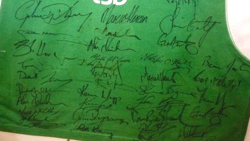 Signed Ireland shirt