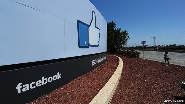 Facebook sign, Menlo Park