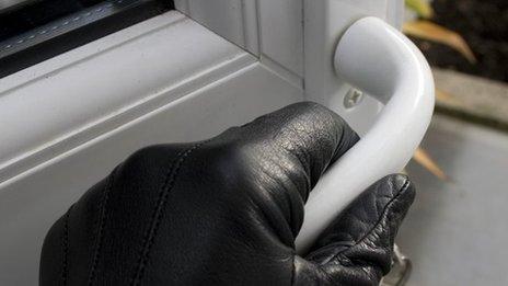 Burglar entering home generic pic
