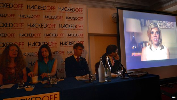 Hacked Off press conference in London on 25 June 2014