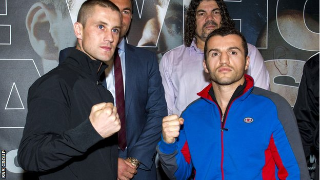 Ricky Burns (left) has switched to trainer Tony Sims since he lost his WBO title